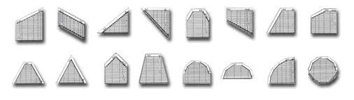 Возможные варианты изготовления жалюзи неправильной формы