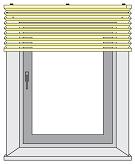 Замер окна для штор плиссе