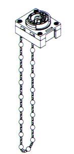 Схема роторно цепочного механизма для карнизов Trietex.