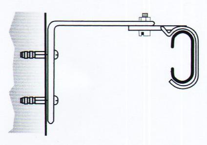 Схема стенового крепления