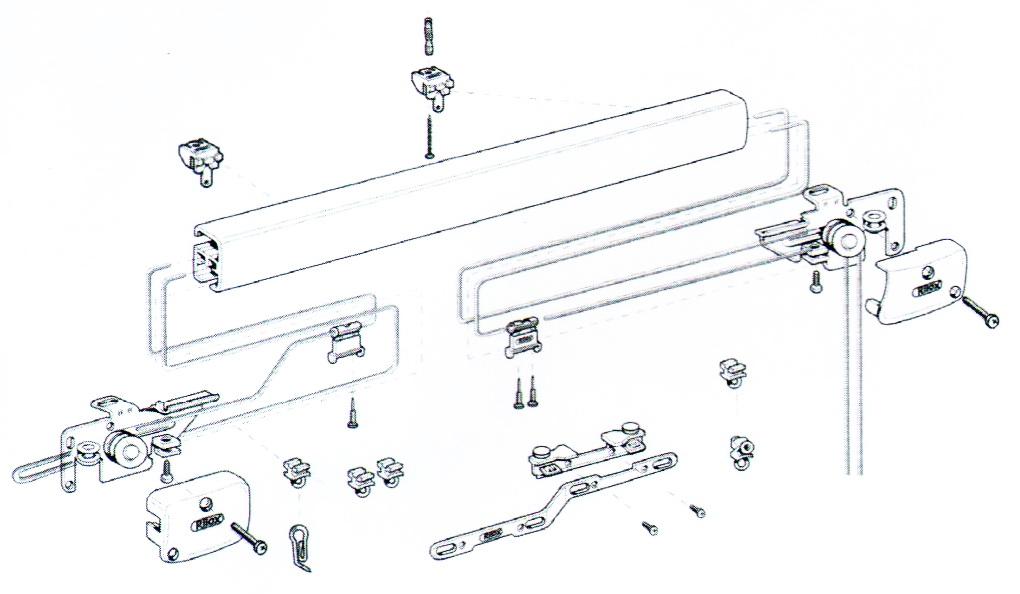 Схема подъемного для римских, романских и австрийских штор R-2880.