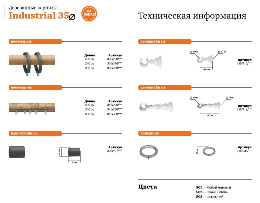 Декоративные профильные карнизы. Industrial35