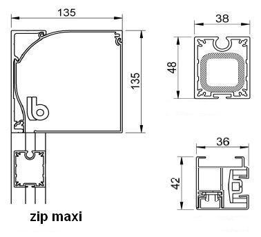 Вертикальные маркизы, Mobile MAXI zip.