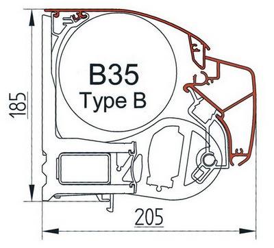 Маркизы открытого типа Brustor, Universal type B.