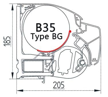 Маркизы открытого типа Brustor, Universal type BG.