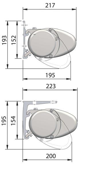 Маркизы кассетного типа Brustor, Compact.