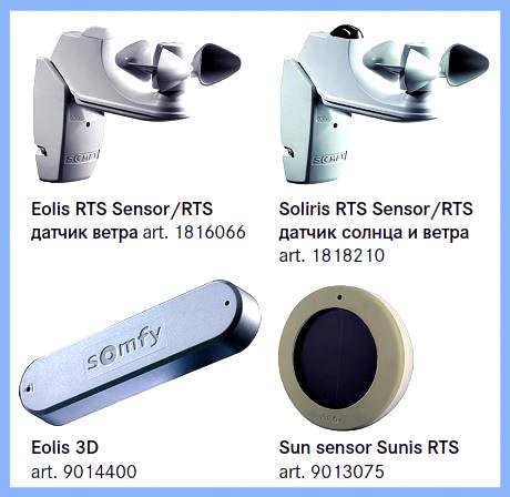 Автоматика Somfy.
